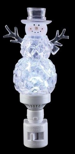 Icy Crystal Cube Snowman LED Bubble Night Light Roman Lights Roman 165139