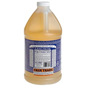 Castile Soap, Peppermint Liq 64 oz. (Ships Ground)