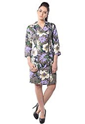iamme Coat Dress with side zipper in floral prints on cotton twill fabric