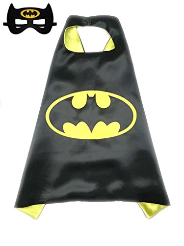 ReachMe Superhero Dress Up Costumes Cape Mask Set Halloween Costume Party Cloak(Batman)