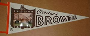 1965 Cleveland Browns Team Photo Pennant Browns 29 Team Photo Felt Pennant by Touchdown Treasures