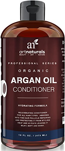 Art Naturals Argan Oil Daily Hair Conditioner 16 Oz - Sulfate Free - Best Treatment for Damaged & Dry Hair - Made with Organic Ingredients & Keratin - For All Hair Types - Safe for Color Treated Hair