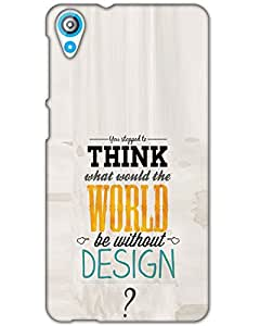 Fashub Htc Desire 820 Back Cover Designer Hard Case Printed Cover