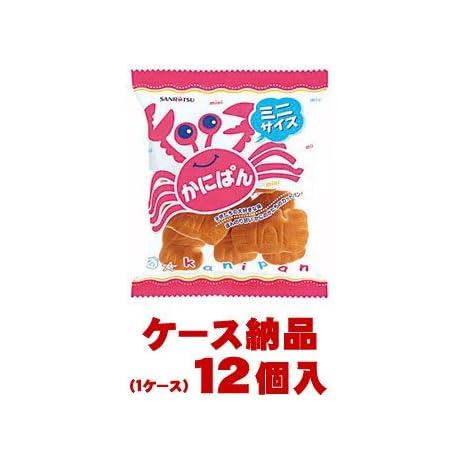 【1ケース納品】 【1個あたり128円】 三立製菓 ミニかにぱん 90g×12