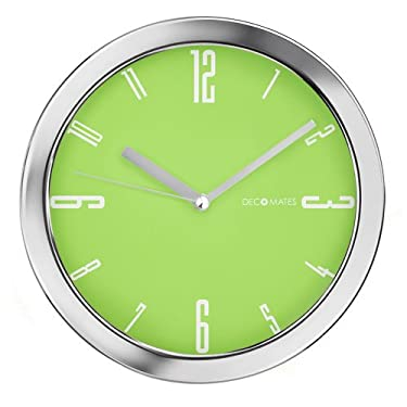 DecoMates Non-Ticking Silent Wall Clock - Vivid (Lime Green)