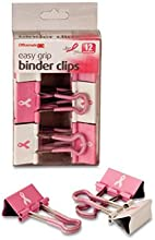 Binder Clips Medium 6PK Pink Qty6