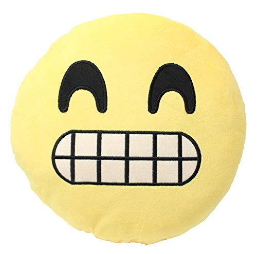 Emoji Cheese Smile Cushion Pillow Stuffed Plush Toy Doll Seat Pad Home Decor USA Seller (Cheese It Pillow compare prices)