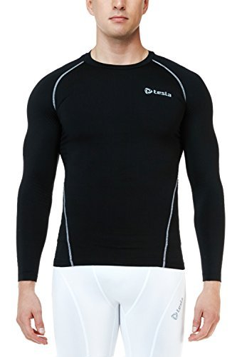 Tesla Men's Thermal Coldgear Compression Long Sleeve T Shirts R34 (Thermal Performance compare prices)