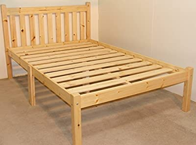 Heavy Duty Kingsize wooden pine Bed 5ft Shaker Style - VERY STRONG