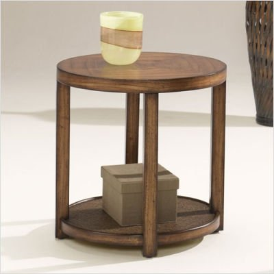 Cheap Hammary T1083235-00 Malaya Round End Table in Medium Brown (T1083235-00)