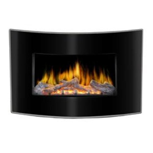 LOFTY Valencia BG03CB Curved Face Wall Mount Electric Fireplace / BG03CB / picture B00FOI5T86.jpg