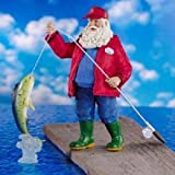 Kurt Adler Fabriche Santa Claus - Fisherman Fishing