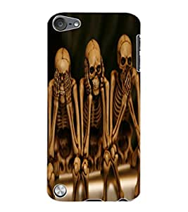 ColourCraft Funny Skeletons Design Back Case Cover for APPLE IPOD TOUCH 5
