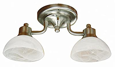 ITC (39540S-NI/117-DB) 2-Arm Dinette Light with 5-Inch Round Dome Base