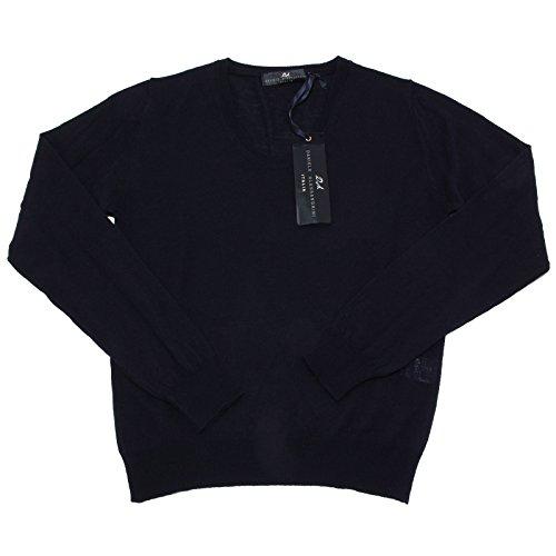 4906N maglione DANIELE ALESSANDRINI maglie uomo sweater men blu [46]