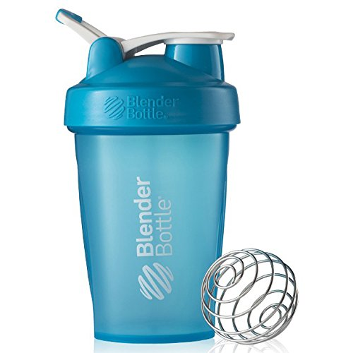 Blender Bottle Classic 20 oz. Shaker with Loop Top,Stay Open flip cap allows you to carry more while hands are full,Blender Ball whips around inside the bottle as you shake. (Aqua) (Aqua Hand Blender compare prices)
