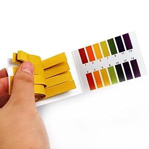 Packs PH 1-14 Test Paper Litmus Strips Tester, 80pcs Per Pack