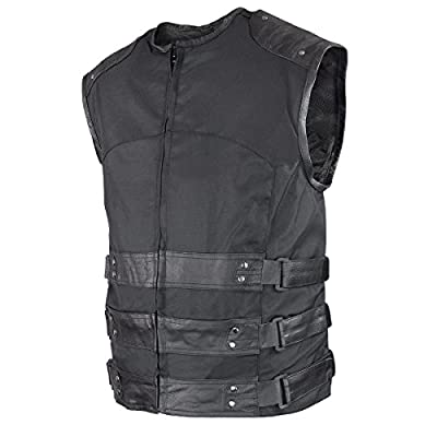 Xelement VE 9600 Tactical Tri-Tex/Leather Vest with Concealed Gun Pocket from Xelement