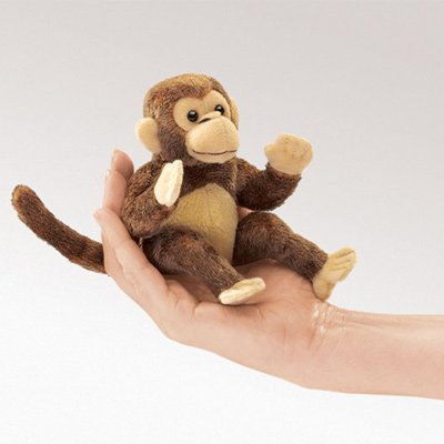 Folkmanis Mini Monkey Finger Puppet
