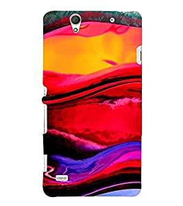 Multi colour Fluidic Design 3D Hard Polycarbonate Designer Back Case Cover for Sony Xperia C4 Dual :: Sony Xperia C4 Dual E5333 E5343 E5363