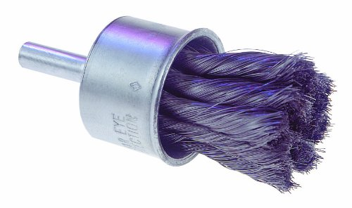 "Osborn 30014 Knot Wire End Brush, Steel Bristle, 20000 RPM, 1"" Diameter, 2-3/4"" Length, 0.006"" Fill Diameter from Osborn International"