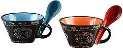DRL Ceramic Soup Bowls, 4-Piece, 8 cm x 15 cm x 12 cm (2DRL-126-OB)