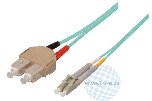 Tecline 39985605 OM3-Faser LWL-Kabel (50/125 µm, 5,0 m) türkis
