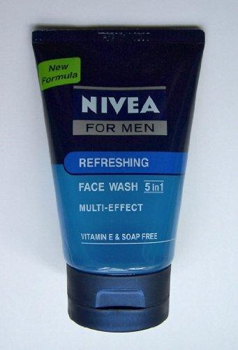 Nivea For Men Refreshing Face Wash Multi-Effect Vitamin E & Soap Free