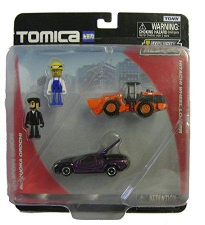 Tomy Tomica Hitachi Wheel Loader & Mitsuoka Orochi - 1