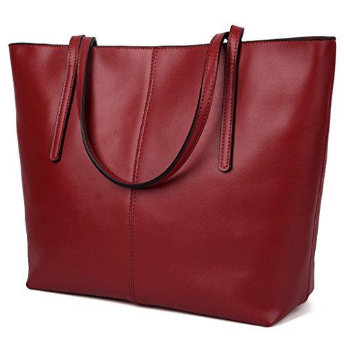 Yahoho Women's Simple Genuine Leather Top Handle