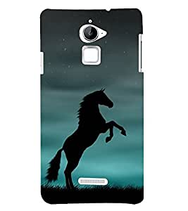 Shadow Jumping Horse 3D Hard Polycarbonate Designer Back Case Cover for Coolpad Note 3 Lite