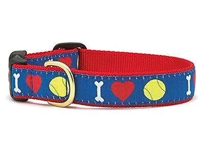 I Heart Tennis Dog Collar