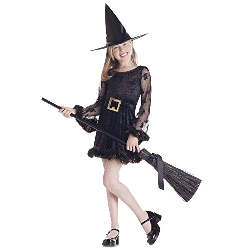 Child's Adorable Witch Halloween Costume (Size: Large 10-12)