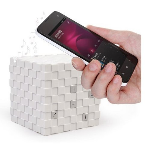 Magic Cube Mini Bluetooth Wireless Speaker For Iphones Ipad Cellphone Pc Laptop White Color