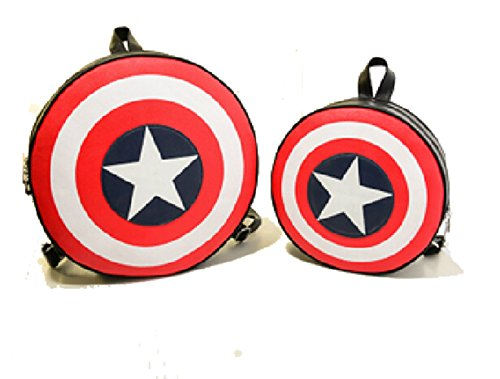 Koveinc Avengers Captain America Shield Student Backpack Book Bag