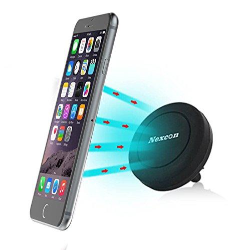 Car Mount, Nexcon Magnetic Cradle-less Universal Car Phone Air vent Mount Holder for iPhone 6, 6s 6 plus, 5, 5s, 4, Samsung Galaxy S6 Edge S5 S4 S3 Note 4 3, Nexus 5X, 6P, LG G4, G3, Black