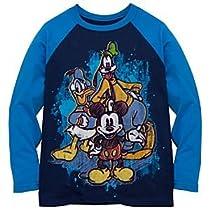 Disney Organic Raglan Sleeve Mickey Mouse and Friends Tee for Boys