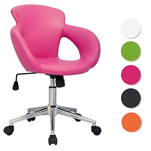 SixBros. Design sgabello girevole da lavoro sedia da ufficio fuchsia - M-65335-1/1305