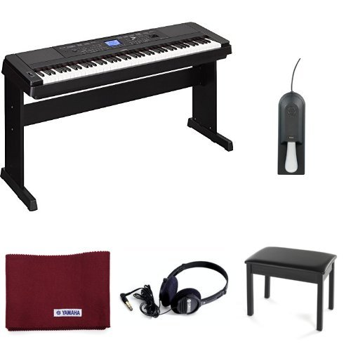 Great Deal! Yamaha DGX-660 88-Note Digital Piano, Black, with Yamaha Headphones, Padded Bench, Susta...