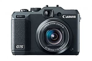Canon Power Shot G15 Camera - Black (28mm Wide Lens,12MP) 3.0 inch LCD FHD