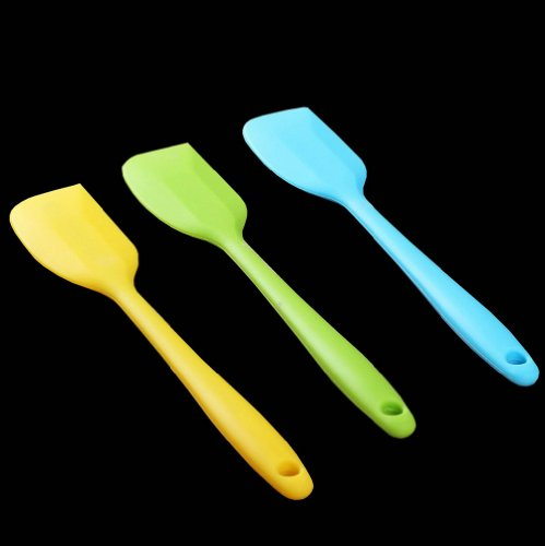 Gracelife Durable One-piece Silicone Spatulas Scraper Bakeware Tool Utensils Batter Mixing Knife