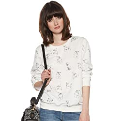 H! By Henry Holland Womens Designer White Scotty Dog Sweat Top from H! by Henry Holland