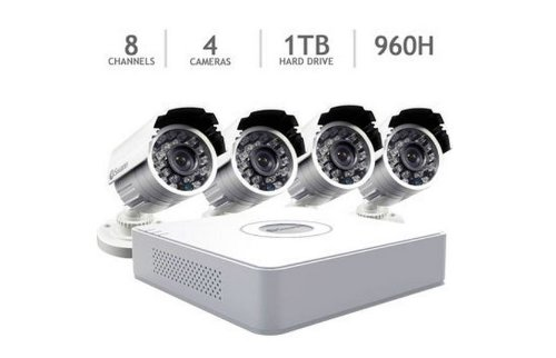 Swann 8 Channel 960H Security System With 1Tb Hdd And 4 700Tvl Cameras
