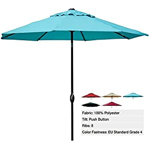 Abba Patio 9 Ft Market Aluminum Umbrella