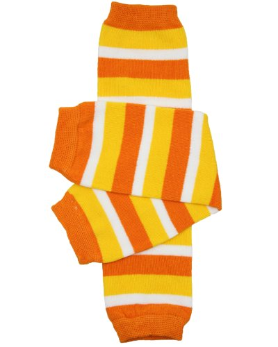 Halloween baby & toddler Leg Warmers for Girls & Boys in various styles (Newborn (up to 12 pounds), Candy Corn)