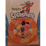 Pampers Splashers Disposable Swim Pants Featuring Sesame Street's Elmo, Size 5 (30-40 Lb./14-18 Kg.), Pack Of...