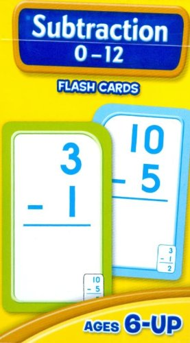 Subtraction 0-12 Flash Cards - School Zone Publishing Company Staff