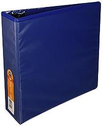 Wilson Jones Heavy-Duty D-Ring View Binder, 3 Inch, 8.5 Inch x 11 Inch Sheets, Customizable, Blue (W385-49BL)