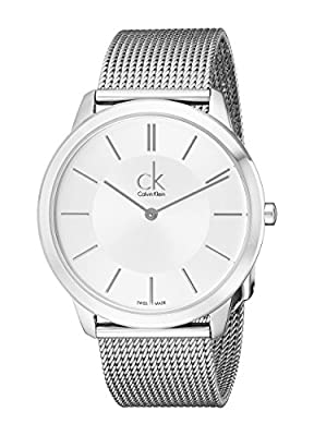 Calvin Klein Minimal Collection Stainless Band Silver Dial Men's Watch - K3M21126