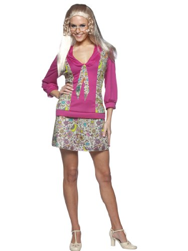 Jan Brady Bunch Costume Dress Short Sexy Floral Skirt Womens Theatrical Costume